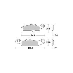 Pastiglie freno (VD441JL) - Vesrah