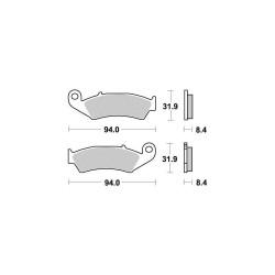 Brake pads (S1039B) - Kyoto