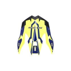 Frontino per casco cross s820 giallo deco blu (CORAC05) - S-line