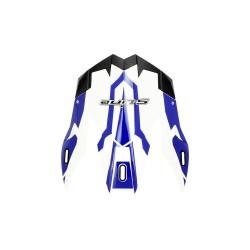 Frontino per casco cross s820 bianco blu (CORAC03) - S-line