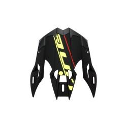 Frontino per casco cross s820 nero opaco deco giallo fluo