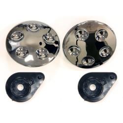 Kit screw visor chrome for helmet demi-jet s720 luxe city (DLCAC01) - S-line