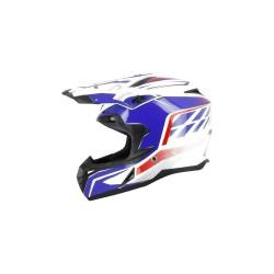 Cross helmet s820 white deco blue(COR1G150) - S-line