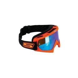 Goggles cross orange fluo visor Iridium Blue (GOGGLECROS35) - S-line
